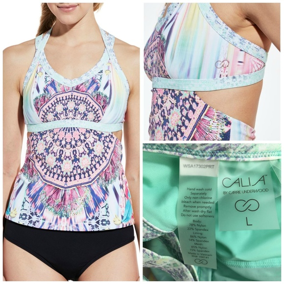 46d3811d47550 CALIA by Carrie Underwood Other - CALIA Carrie Underwood Women's Tankini  Top ...